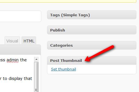 WordPress Set Thumbnail Images